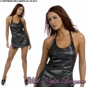 SEXY Wetlook Halter Neck Dress